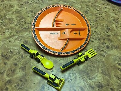 Constructive Eating Construction Tools Plate & 3 Utensils!!!