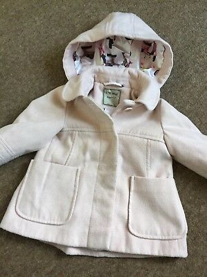 "Girls Next Lovely Duffle Style Coat ""moped Detailed Lining"" Age 9 - 12 Months"