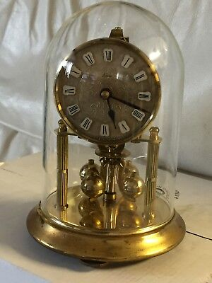 "Vintage 1960's ""KERN"" Solid Brass Glass Dome German Anniversary Clock"