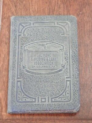 VTG 1940s The Home Building & Loan Association Dues Register Book Columbia PA