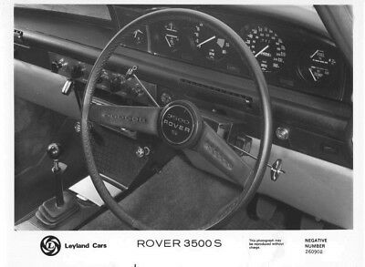 1970 Rover 3500 S Wheel & Instrument Panel ORIGINAL Factory Photo oac0892