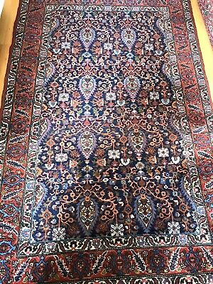 Vintage Antique Turkish rug large Hand Made Wool 4 X 7 Oriental