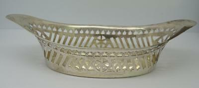 *Antique English Hm Sterling Silver Sweet Dish/ Basket Sheffield Circa 1899*