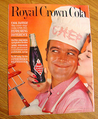 1961 RC Royal Crown Cola Ad   Chef gets a Kiss
