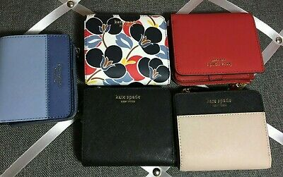 NWT Authentic KATE SPADE Cameron breezy floral Small L-zip bifold wallet 2019