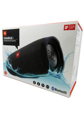 New JBL Charge 3 by HARMAN Portable Bluetooth Speaker IPX7 Waterproof in Retail