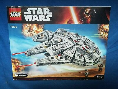 Lego 7965 Star Wars Millennium Falcon Instruction Manual Only