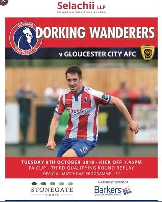 2018/19 - DORKING WANDERERS V GLOUCESTER CITY - FA CUP 3rd QUALIFYING RND REPLAY