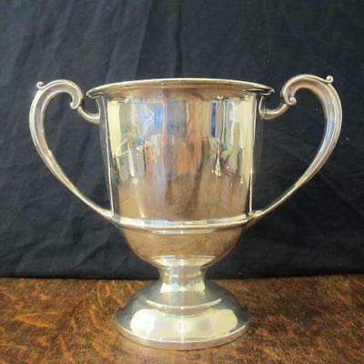 1936 UN-ENGRAVED 456 Gram JF&S BIRMINGHAM SOLID SILVER TWIN HANDLED TROPHY CUP