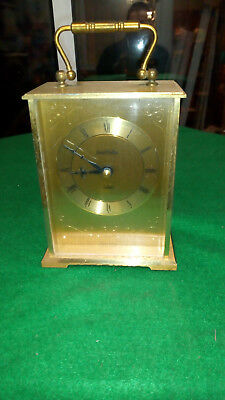 Vintage James Walker Ltd. German Made Brass Quartz Mantle/carriage Clock