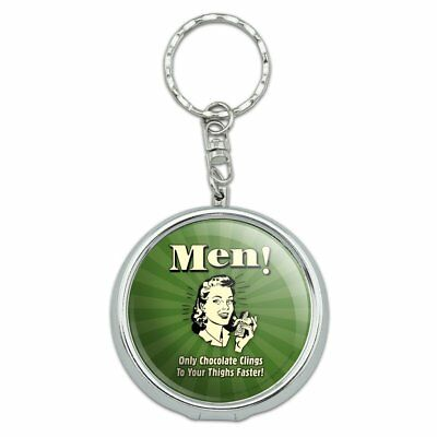 Men Only Chocolate Clings Thighs Faster Portable Travel Ashtray Keychain