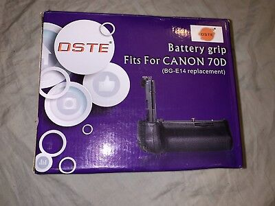 DSTE Pro BG-E14 Vertical Battery Grip for Canon 70D 80D SLR Digital Cameras
