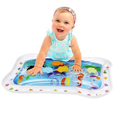Inflatable Baby Water Mat Fun Tummy Time Play Center For Children And Infants