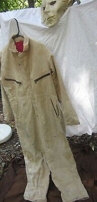 Michael Meyers Jumpsuit Stained Torn Adult Halloween Costume Small/short & Mask