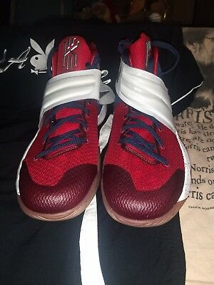 da9f599379f3 MENS NIKE KYRIE 2 size 11.5 red white and blue Nike ID deadstock ...