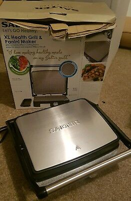 Salter EK2009 Marble Collection Ceramic Health Grill and Panini Maker Grey