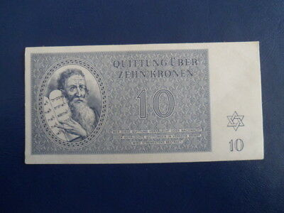 1943 Theresienstadt Ghetto Concentration Camp- 5 Kronen- Low SN#A011--18-754