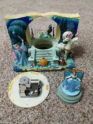 Disney Cinderella Double Sided Storybook Snowglobe Rare **PROJECT**