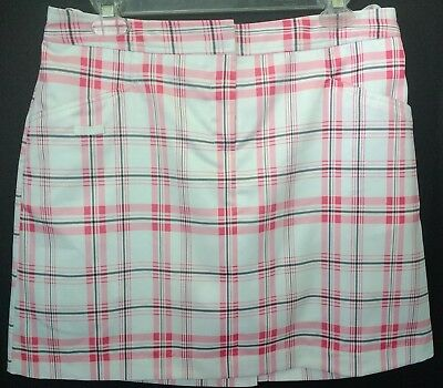 Izod XFG Stretch Plaid Women's  Golf Short Skort Size 6