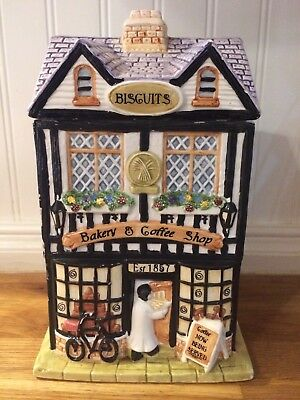 French Bakery And Coffee Shop Bakery Cookie  Biscuit Jar Bicycle