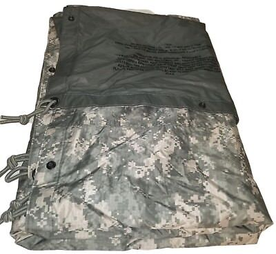 Military Issued ACU Field Tarp tarpaulin digital camo us army USGI 91x81 VG *