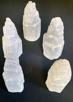 Selenite GypsumTower Mineral Formations Crystals approx 6inch, 1 tower per lot