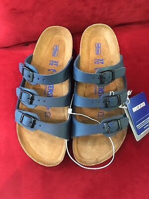 3a0b054443b9 BIRKENSTOCK WOMENS 37 Florida Blue Three Strap Sandals Germany ...