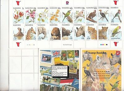 Namibia: 1997 Flora & Fauna stamp booklet. SG749-766. MUH. Going very cheap