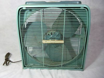 Vintage Kenmore Automatic Thermostat Electric Box Fan Metal WORKS