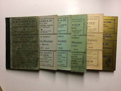 Coldwater, Michigan City Directories. History. Names. Ads. Mich MI