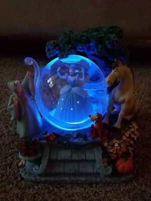 Disney Cinderella Musical Snow Globe - A Dream Is A Wish That Your Heart Makes
