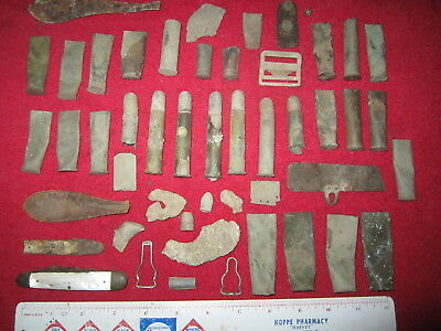 49 Assorted Military Fort Site Artifacts (Fort Sully #2, Hughes Co. South Dakota