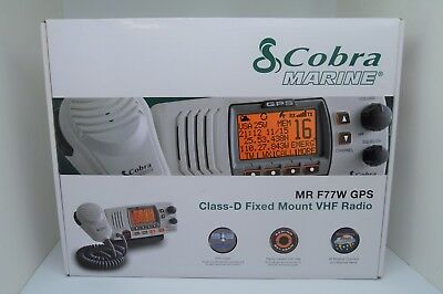 Cobra MR F77W Fixed Mount Class D VHF Radio 25W  White