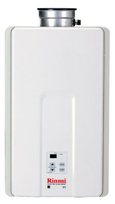 Rinnai V75IN 7.5 GPM Residential Indoor Natural Gas Tankless Water Heater with 1