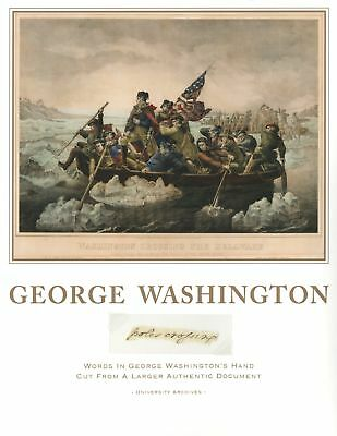 """George Washington """"poles crossing"""" Hand-Written Words from Larger Document"""
