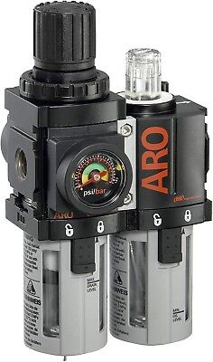 "ARO C38121-600-VS Air Filter-Regulator-Lubricator Combination, 1/4"" NPT"