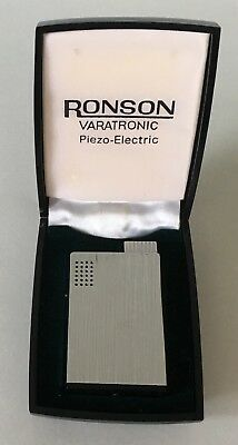 Vintage Ronson Varatronic Piezo-Electric Lighter Made in W Germany NOS
