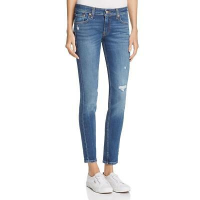 Levi's Womens 711 Slim Hip Mid Rise Distressed Skinny Jeans BHFO 9915