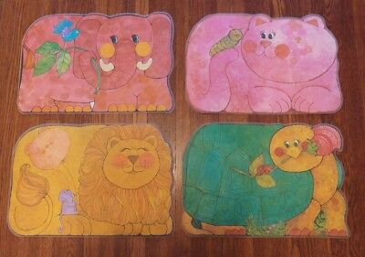 1979 Zoopers Settings 4 Double Sided Children's Animal Placemats