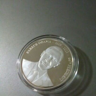 Barack Obama Silver Plated Coin American Mint, 44th President