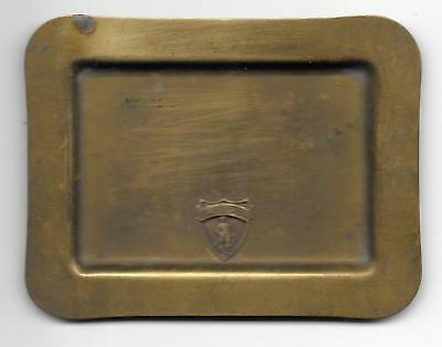 1930's Brass Pin Tray From Concord , Mass Showing The Minuteman