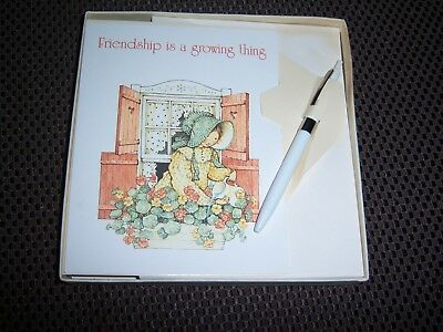 Vintage Box 10 Holly Hobbie Notecards Friendship Is A Growing Thing + Pen