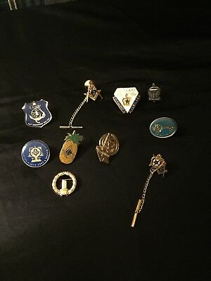 LOT OF 10 MASONIC PINS Very Good Condition
