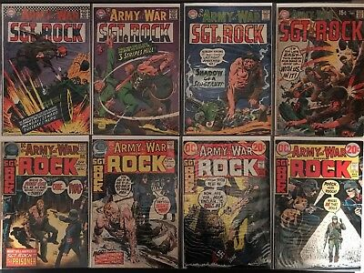 OUR ARMY AT WAR 19 Book Lot - SGT ROCK 181 And Up See Photos!