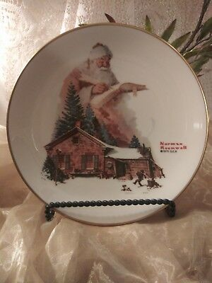 Vintage Norman Rockwell Collector Plate ; Christmas 1975  Good Deeds   Gorham