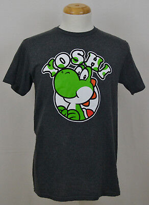 af115b509 Yoshi T-shirt Nintendo Super Mario Bros Video Game Graphic Tee Dark Gray NWT