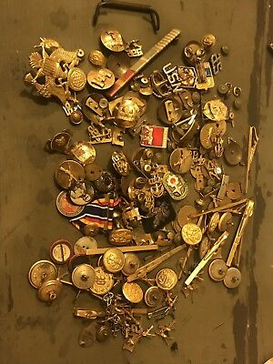 Lot of Military Pins & Badges ARMY NAVY POLICE AIR FORCE UNIT CREST