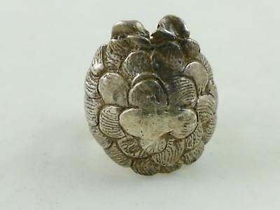 Turtle Shell Textured Sterling 925 Silver Ring Sz 5.25