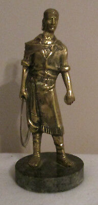Antique Metal Bronze Statue Figure of Ancient Egyptian Man