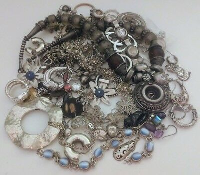 Sterling Silver Jewelry Scrap Mixed Lot 414 grams!